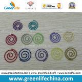 Cuerda redonda de moda de los clips de papel de la dimensión de una variable espiral redonda colorida