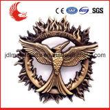 Andenken-Gebrauch und Metallmaterial gravierten fünf Stern-Abzeichen-Militär