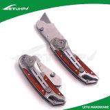 Черная деревянная ручка складывая общего назначения резец ножа