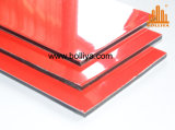 Acm 물자 미러 가는선에 의하여 솔질되는 폴리에스테 PE Kynar 500 Nano PVDF 알루미늄 합성 위원회