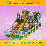 De populaire Apparatuur van de Speelplaats van de Jonge geitjes van het Thema van het Kasteel Deisgn Veilige Binnen (a-15266)