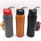 Mund-Sport-Wasser-Flasche des Edelstahl-750ml breite mit Carabiner (SH-ST12)