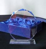Стеклянная металлическая пластинка трофея для торжества сувенира случая спортов