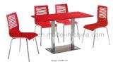 Hoge het rood polijst Eettafel 4 van het Restaurant Zetels
