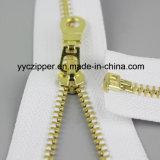 Zipper do metal da extremidade 5# aberta com dentes de bronze