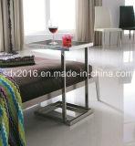 둥근 소형 스테인리스 테이블/유리제 꼭대기 끝 테이블 Jj010