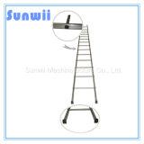 Aluminium/Aluminium/gerade Stahlstrichleiter für Aufbau, Gestell