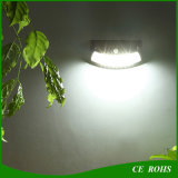 Contrôle de détecteur infrarouge DEL allumant la lampe extérieure Brown de jardin de lumière de mur de sourire d'énergie solaire de 8 DEL et le noir