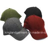 Polyester-u. Wolle-Qualitätswarmes normales Rot/Burgunder-Baseballmütze