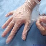 Guanti blu a gettare chirurgici del vinile