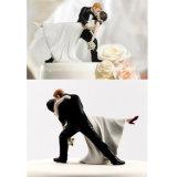 높은 Quality Cake Topper를 위한 Romantic DIP Dancing Bride와 Groom Couple Figurine