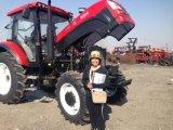 trattore agricolo agricolo a quattro ruote di 80HP 100HP 110HP 120HP Foton con ISO/Ce