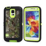 Camo Samsung 은하 S6 가장자리를 위한 녹색 나무 변호인 상자