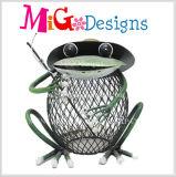 Decoración agradable encantadora barata al por mayor del jardín del metal de la rana
