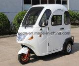 Triciclo elétrico da cabine cheia com o motor 800W