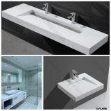 Горячие раковины ванной комнаты смолаы камня сбывания и тщета ванной комнаты