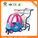 Chariot en plastique de vente chaud à achats de supermarché (JS-PST01)