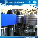 Botella y tarro automáticos que colocan la maquinaria de etiquetado de la escritura de la etiqueta mojada del pegamento