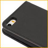 Caso de cuero de Smartphone de la carpeta del tirón para el iPhone 6 más
