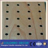 De basse fréquence absorber le conseil acoustique Grooved en bois