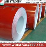 La couleur a enduit la bobine en aluminium de l'enduit de PVDF pour le revêtement de construction