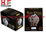 De chef- Mannelijke Versterker van de Pillen van het Geslacht 1500mg van de Rinoceros Gouden