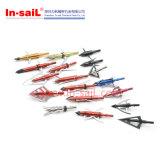 固定刃の従来の弓矢釣Broadheads 2の刃145のGrn中国の製造業者