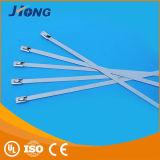 Verschluss-Edelstahl-Kabelbinder der Kugel-4.6*100 mit korrosionsbeständigem