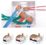 Wago 222-412 Conector de cableado universal de alambre compacto Conductor de 2 clavijas