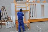 La cabina manuale della polvere con il ciclone ricicla