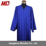 Gland adulte de robe de chapeau de graduation de bleu royal pour le lycée