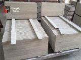 Pavimento del marmo della vena/rivestimento di legno bianchi della parete
