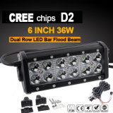 6inch LED 표시등 막대 일 빛 (36W, 2600lm, 방수 IP68)