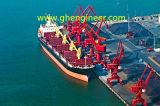Desembarque de navio de intervalo com agarrar hidráulico em Jetty e Dock