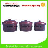 Tarro de cerámica del almacenaje del color de encargo para el tarro de la especia del alimento