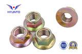 Acier de M5-24/Gr8/Carbon/écrou de blocage Hex de bride avec le zinc de couleur