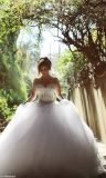 0010 robe de mariage au détail/en gros de robe de bille d'usine avec le cristal