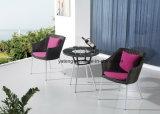 Insieme di caffè esterno del giardino della nuova di disegno di buona qualità mobilia di alluminio sintetica del rattan (YT940-1)