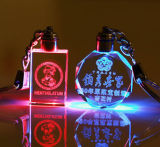 LEDライトとのカスタマイズされた水晶Keychain