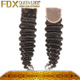 Cuticle pieno Top Grade Human indiano Hair Weave con Closure