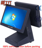 Registo de dinheiro de Hz-9600d com a tela de toque dupla de 15.6 polegadas