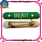 둥근 지붕 인쇄된 로고를 가진 금속 접어젖힌 옷깃 Pin 기장