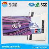Tarjeta inteligente RFID de la tarjeta de crédito que bloquea la manga