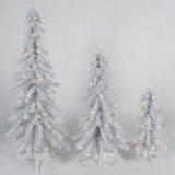 Albero di Natale bianco artificiale del PVC