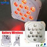 1개의 LED 12PCS*15W 무선 건전지 빛에 대하여 최신 판매 RGBWA 5