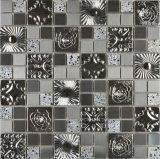 Kristallglas-Mosaik-Fliese u. Edelstahl-Fliese für Wand-Umhüllung (FYMG025)