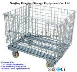 Castersの倉庫Storage Steel Wire Mesh Roll Container