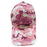 Gorra de basebol construída da camuflagem cor-de-rosa