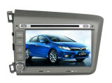 Honda Civic 2012年のGPSのためのクォードCore Android 4.4.4 Car DVD Fit Navigation Radio Audio Video Player