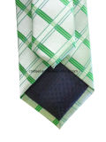 Grand Check Woven Silk Necktie pour Business Man